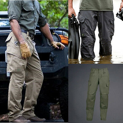 Mens Outdoor Tactical Combat Cargo Hunting Hiking Camping Casual Pants Trousers
