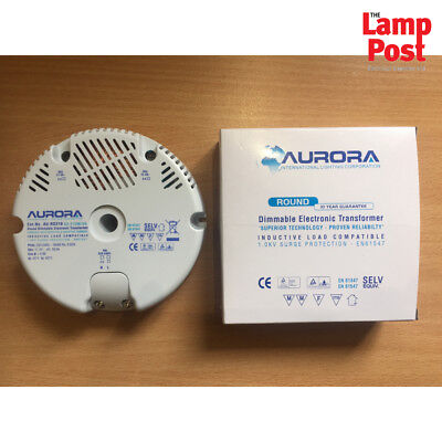 AU-RD210 50-210W/VA Round Dimmable Electronic Transformer FREE P&P