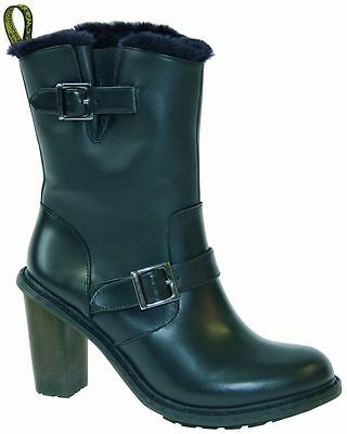 5eed7fb5266 DR MARTENS PARKWAY Hanna Womens Leather Boots Black UK 3 LAST PAIR ...