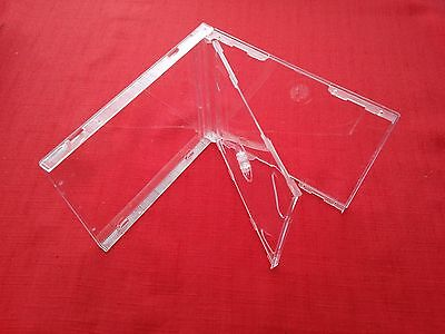 50 Double CD Jewel Case 10.4mm Spine with Clear Tray New Empty Replacement Cover