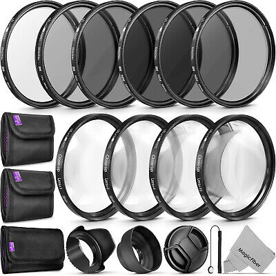58MM Macro Close Up Set + UV CPL FLD/ ND 2 4 8 Filter Kit for Canon 18-55mm Lens