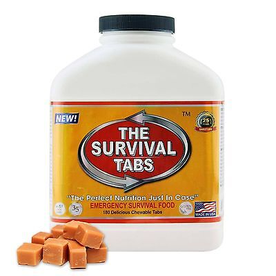 The Survival Tabs - Emergency Food Supply Survival Tablets - Butterscotch Flavor