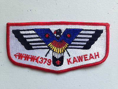 OLD KAWEAH OA LODGE 379 ALAMEDA BSA COUNCIL SCOUT PATCH RED BORDER SERVICE FLAP