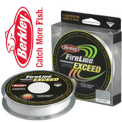 Berkley Fireline Exceed PE Tournament Braid Line 148yds/ 135m Colour - CRYSTAL