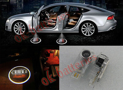 NEW 2 X LED Car door Welcome laser projector Logo for Audi LOGO Shadow lights