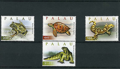 Palau 2009 MNH Reptiles of World 4v Set Lizards Frogs Turtles Monitor