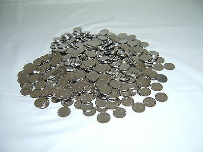 300 STAINLESS STEEL NON-MAGNETIC SKILL SLOT MACHINE TOKENS - PACHISLO  ==NEW==