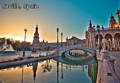 SEVILLE SPAIN TRAVEL SOUVENIR FRIDGE MAGNET #fm262