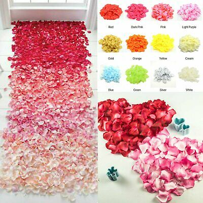 720pcs Artificial Silk Petals Flowers Rose Wedding Flower Girl Petal Decoration
