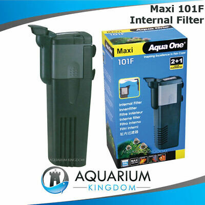 Aqua One Maxi 101F Internal Power Filter 350L/H 4.2Watt Clean Aquarium Fish Tank