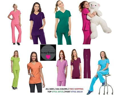 heartsoul scrubs sets ( Pant 20110, Top 20710) All Colors & Sizes FREE SHIPPING
