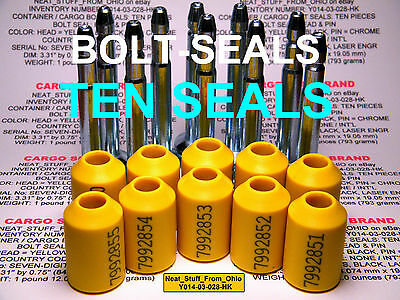 "Cargo / Container ""bolt"" Security Seals, High-Security C-Tpat Comp't 2013E Stand"