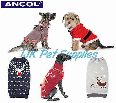 Ancol Christmas Dog Puppy Santa Reindeer suit outfit costume xmas jumper sweater