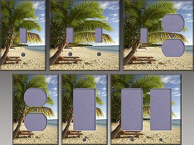 Beach And Palm Trees Wall Decor Light Switch Plate Cover
