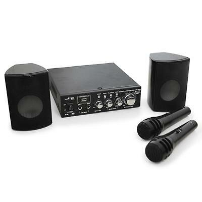 Complete Pa System Speakers Amplifier Mics Usb Mp3 *free P&p Special Offer