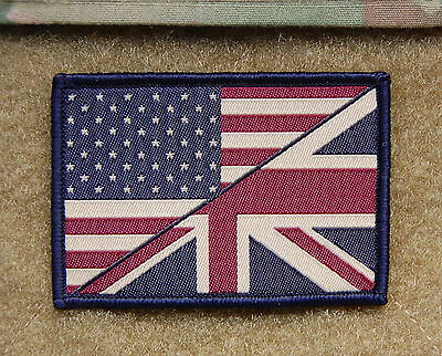 Subdued US/UK Stars & Stripes/Union Flag Patch UKSF SBS SAS SEAL CAG Afghanistan