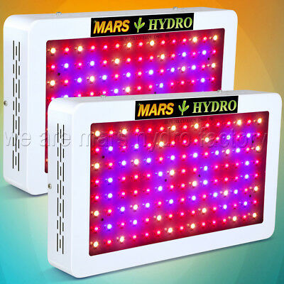 2PCS Mars Hydro 600W LED Grow Light Indoor Plant Hydroponic Veg/Flower Gardening