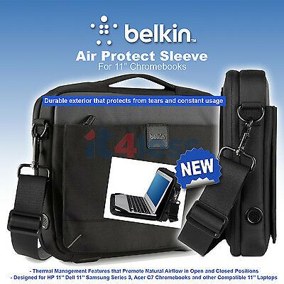 Belkin 11'' Chromebooks and Laptop Air protector carry case with shoulder strap