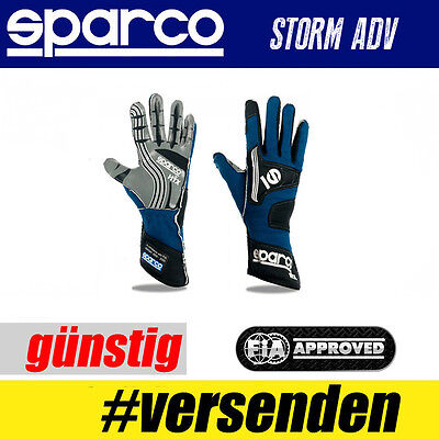 FIA SPARCO Handschuh STORM ADV, Blau, Professionelle Handschuhe  HIT TOP