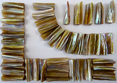 50g Natural Pearl Shell Edge Mosaic Tile 10mm x 30mm Cut Shell Tile Edge Border