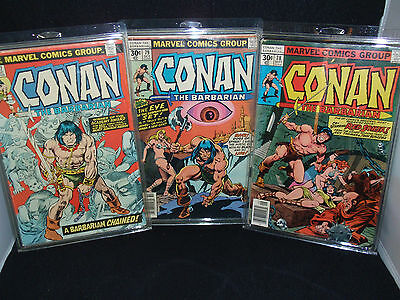 Conan The Barbarian - Marvel Comic Group - #57 #78 #79 - 1970's NF