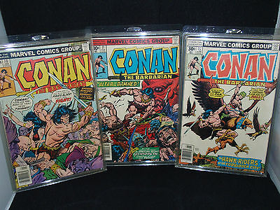 Conan The Barbarian - Marvel Comic Group - #70 #71 #75 - 1970's Two NF