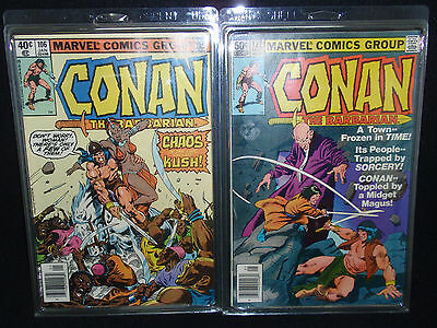 Conan The Barbarian - Marvel Comic Group - #106 #122 - 1970's NF