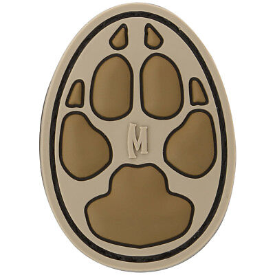 "Maxpedition Dog Track 1"" 3D Pvc Rubber Badge Military Morale Patch Arid"