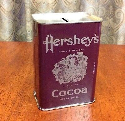Vintage Hershey's Cocoa Piggy Bank Advertising Tin Reproduction 1981 Chocolate