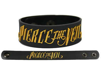 PIERCE THE VEIL Rubber Bracelet Wristband Gold