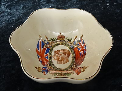 Goss china dish issued for King George VI Coronation 1937