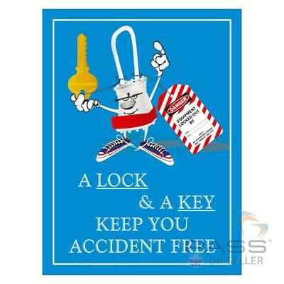 LOTO Procedures Poster - ''A Lock and A Key''