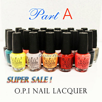 PART A Authentic 100% Genuine O.P.I Nail Lacquer Polish OPI Collection Top Coat