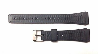 Replacement Watch Strap For Casio F91 & F105 - Black Resin. (RG1) FREE DELIVERY.
