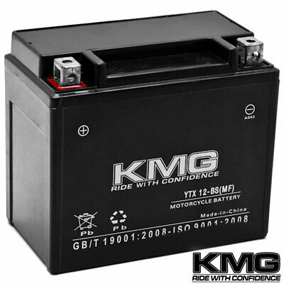 NEW High Performance 12V SMF Battery KMG Replacement YTX12-BS Maintenance Free