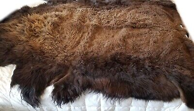 Buffalo Hide Rug, Large Premium Winter Coat Tanned Bison Rug, Made In The USA