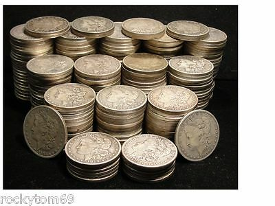 Morgan Silver Dollar Cull Condition  90% Silver (10)Coins No Holes No slicks!