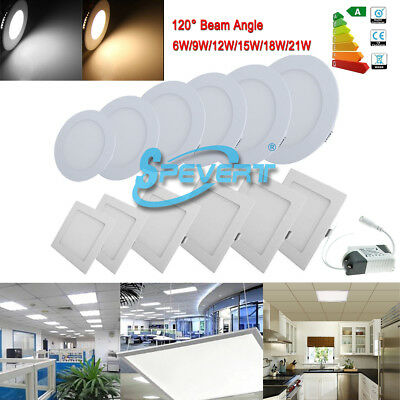 (Non) Dimmable 6W 9W 12W 15W 18W 21W LED Panel Recessed Ceiling Lamp Down Light