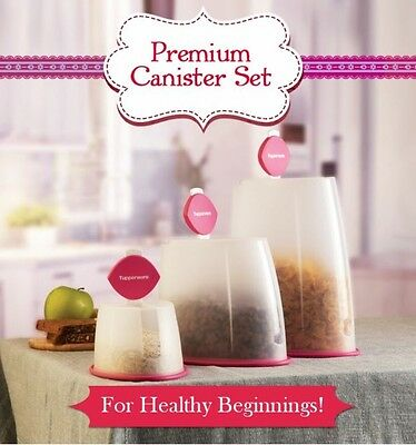Brand New Tupperware Premium Canisters - Set Of 3 - Free Shipping