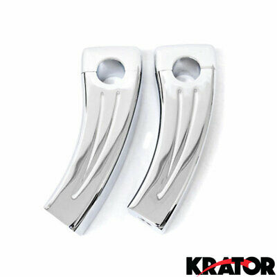 "Chrome Handlebar Risers 4.5"" Pullback Risers For Harley Big Twin 1"" Handlebars"