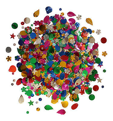 2000+ Sequins Cup Loose Craft Sewing Colours Embellishments FREE DELIVERY 100g