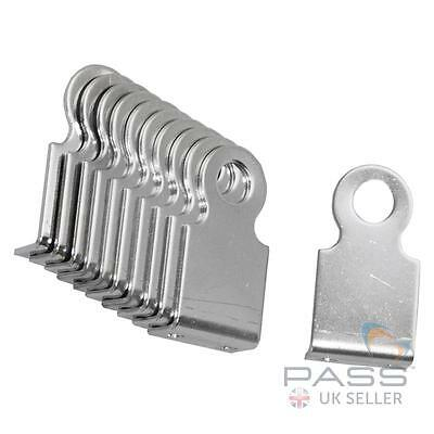 Bolt or Rivetable Right Angled Padlock Eye - Large, Stainless Steel, Pack of 10