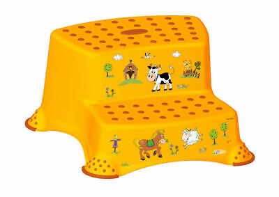 OKT Kids Tritthocker zweistufig Funny Farm, apricot-orange