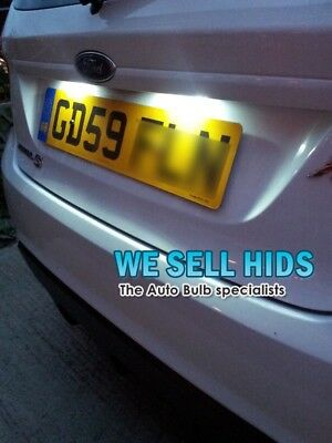 FORD FIESTA MK6  LED White NUMBER PLATE BULBS LIGHTS - T10 501 Error Free
