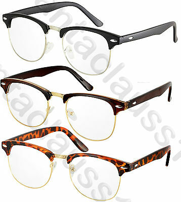 Vintage Retro Clear lens Mens Womens Fashion Glasses