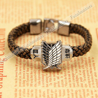 Anime Attack On Titan Bracelet Shingeki No Kyojin Cosplay Bracelets Unisex Charm