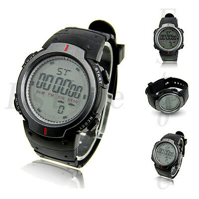 Hot Sale Men's Waterproof LCD Digital Stopwatch Date Rubber Sport Wrist Watch