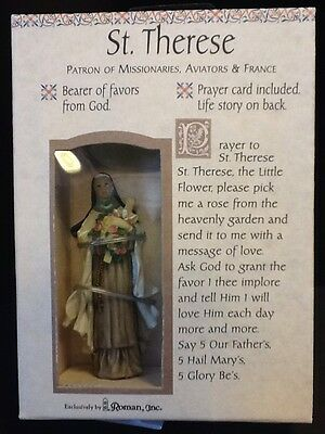 St Therese Figurine Player Card Inside Patron of Missionaries (13301-408E)