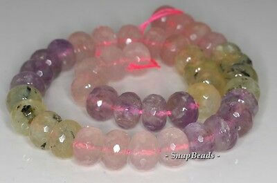 20X12-14X10MM  MIX QUARTZ GEMSTONE FACETED NUGGET LOOSE BEADS 7.5/""