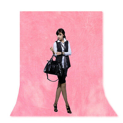 6x9 Ft Pink Photography Studido Muslin Backdrop Seamless Hand Painted Background